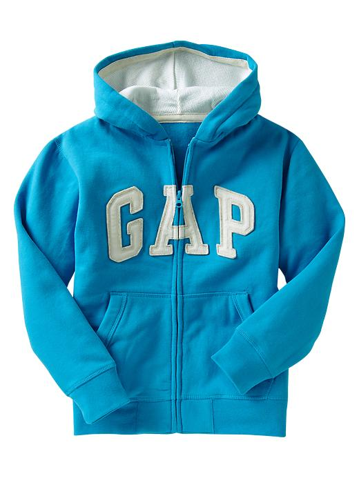 Gap Arch Logo Zip Hoodie - Celestial blue - Gap Canada