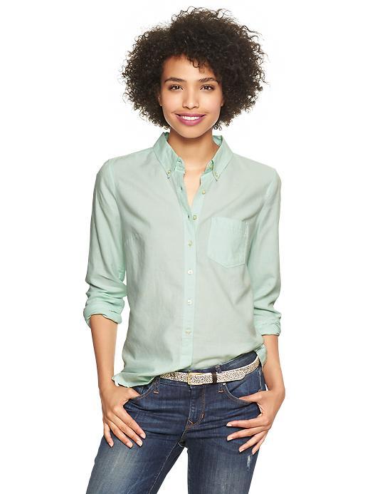 Gap Perfect Oxford Shirt - Icy mint - Gap Canada