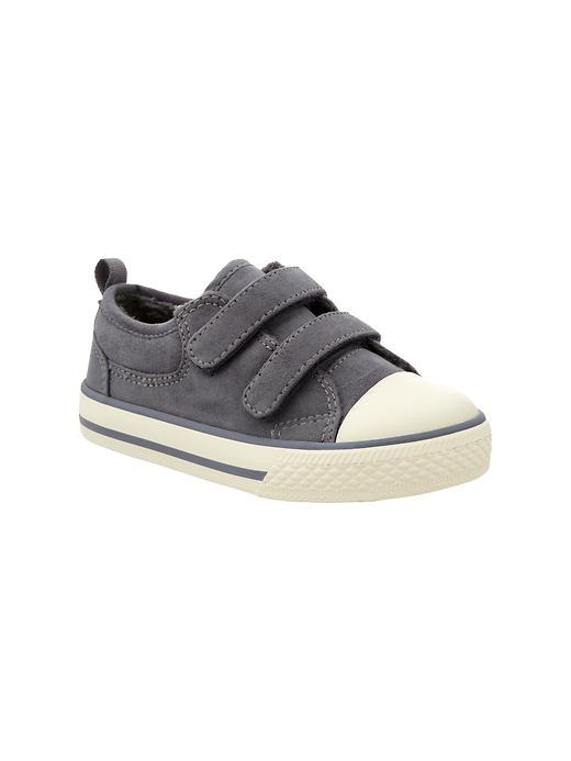 Gap Suede Sherpa Lined Sneakers - Scholastic grey
