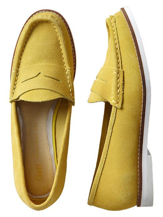 Gap Suede Loafers - New pale lemon - Gap Canada
