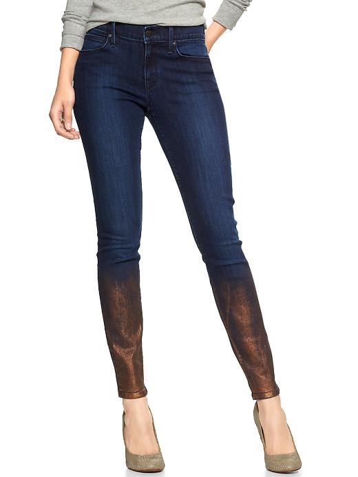 Gap 1969 Metallic Rinse Legging Jeans - Gold - Gap Canada