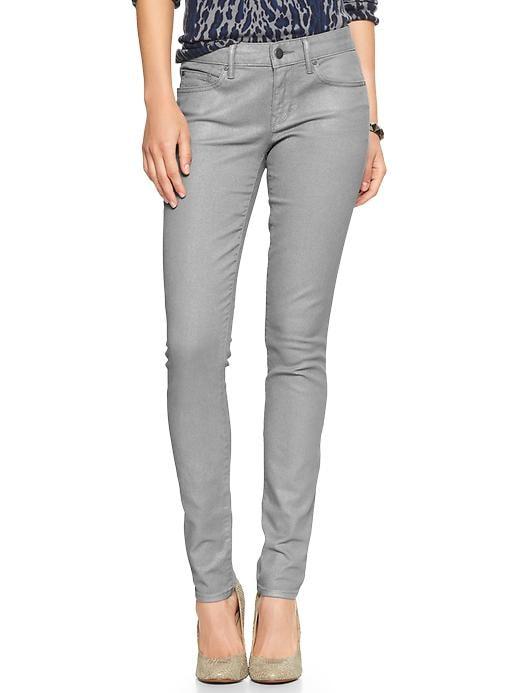 Gap 1969 Metallic Always Skinny Jeans - Silver - Gap Canada