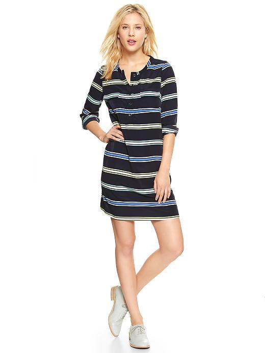Gap Striped Shirtdress - Blue stripe