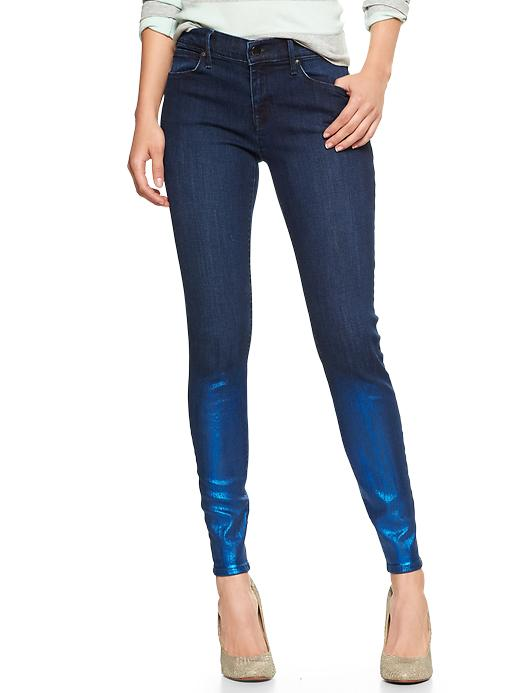 Gap 1969 Metallic Rinse Legging Jeans - Blue - Gap Canada
