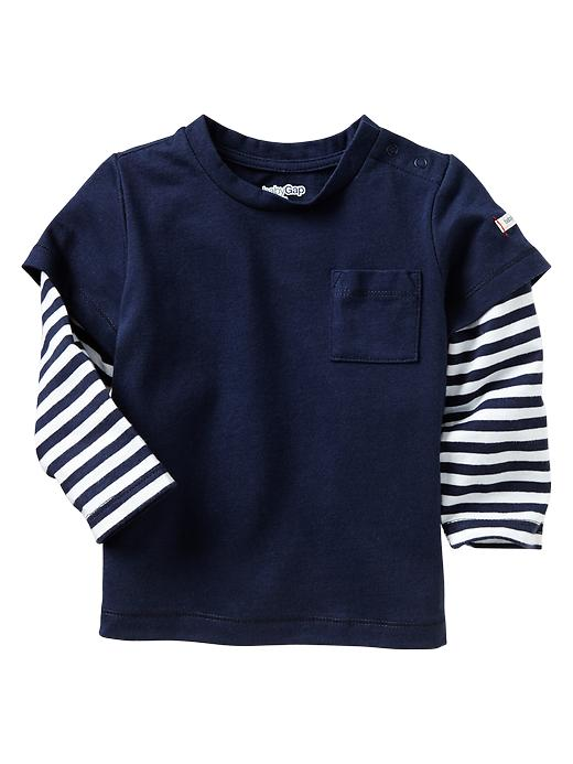 Gap 2 In 1 Striped T - Basic navy - Gap Canada