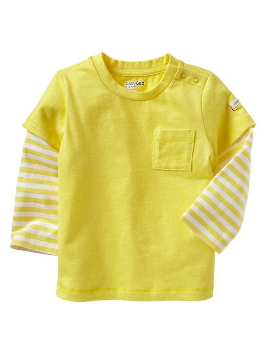 Gap 2 In 1 Striped T - Aurora yellow - Gap Canada