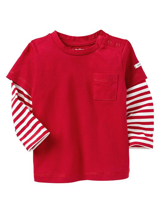 Gap 2 In 1 Striped T - Admiral red - Gap Canada