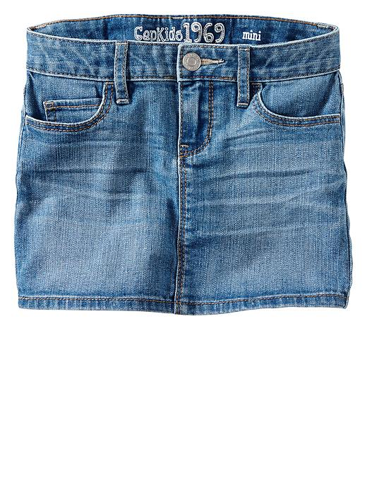 Gap 1969 Denim Mini Skirt - Light wash - Gap Canada