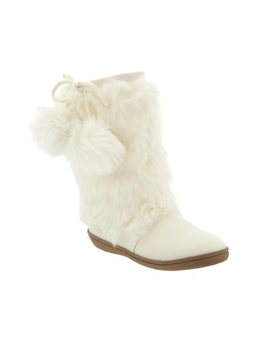 Gap Faux Fur Boots - Ivory frost - Gap Canada
