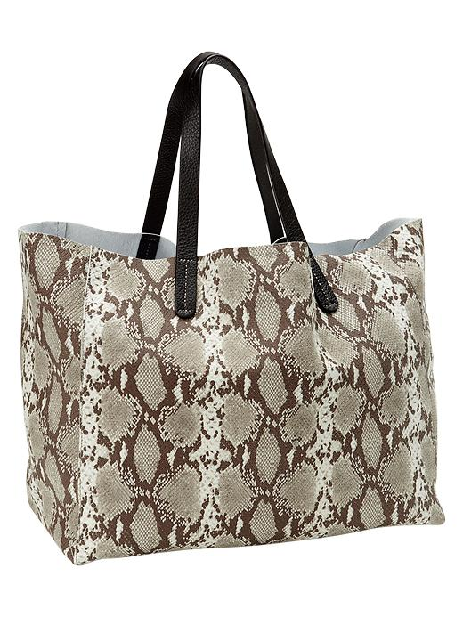 Gap Python Leather Tote - Snake print - Gap Canada