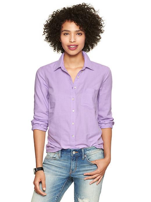 Gap Perfect Oxford Shirt - Purple calm - Gap Canada
