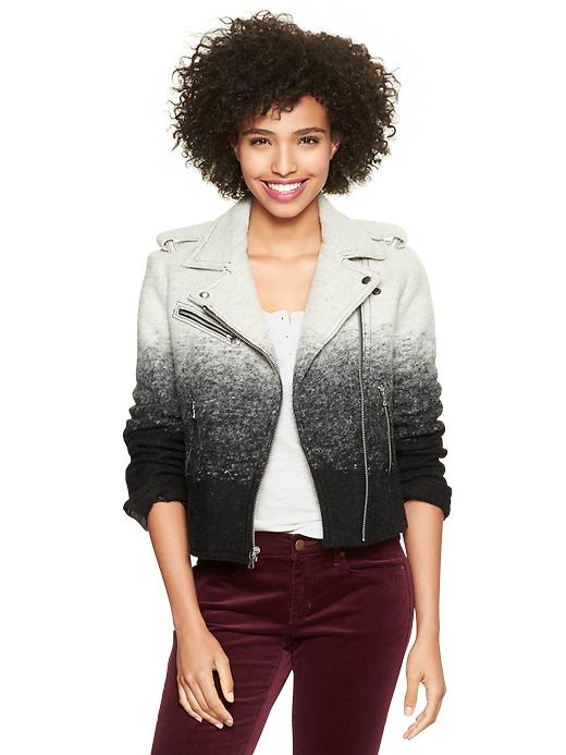 Gap Ombre Wool Moto Jacket - Charcoal ombrã© - Gap Canada