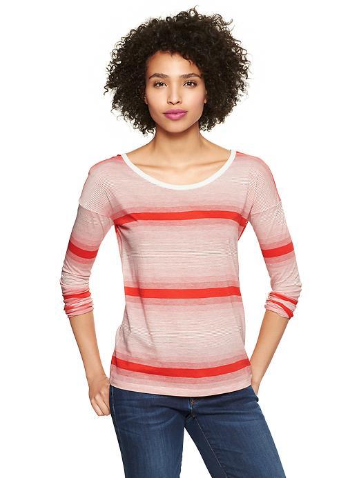 Gap Variegated Stripe T - Red & white stripe