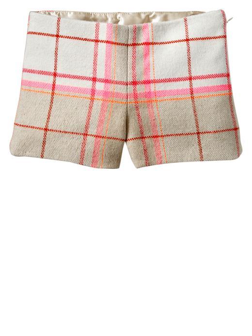 Gap Plaid Shorts - Ivory frost