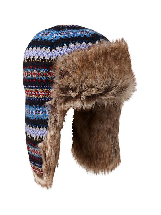 Gap Knit Trapper Hat - Allover fairisle - Gap Canada