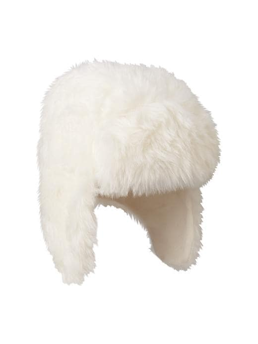Gap Faux Fur Hat - Ivory frost - Gap Canada