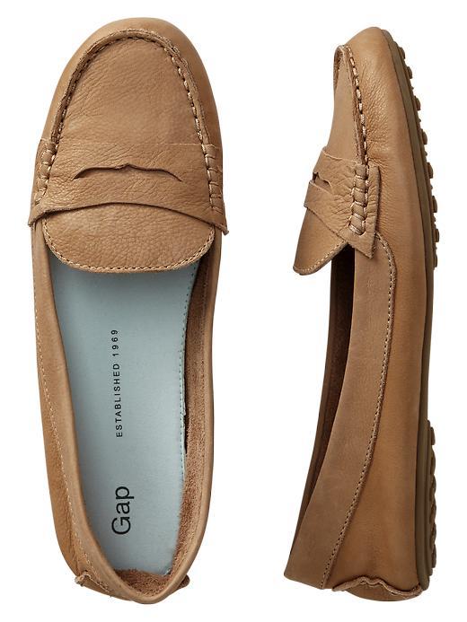Gap Leather Loafers - Safari khaki - Gap Canada