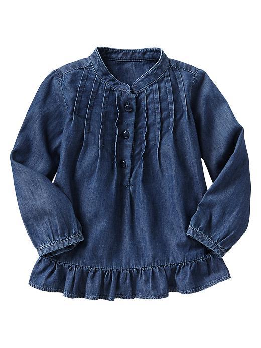 Gap Denim Pintuck Shirt - Medium denim