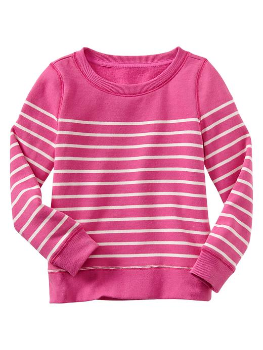 Gap Striped Pullover - Pink azalea