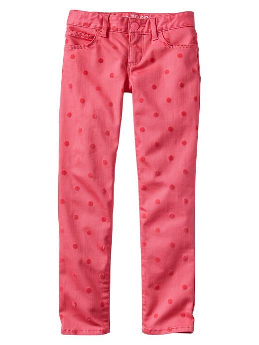 Gap 1969 Polka Dot Super Skinny Jeans - Pink pop neon - Gap Canada
