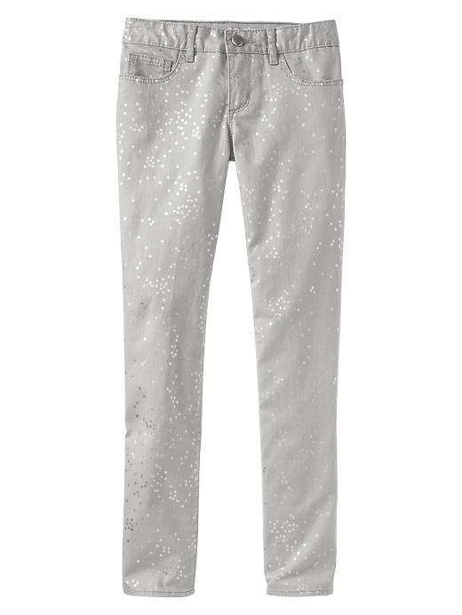 Gap 1969 Metallic Star Super Skinny Jeans - Silver - Gap Canada