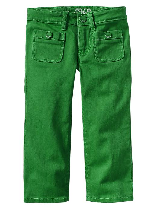 Gap Colored Pocket Straight Jeans - Green moment - Gap Canada