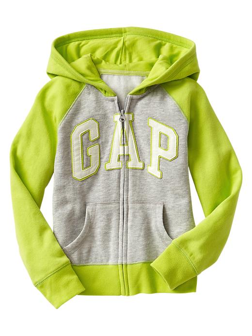 Gap Arch Logo Raglan Zip Hoodie - Lime cooler - Gap Canada