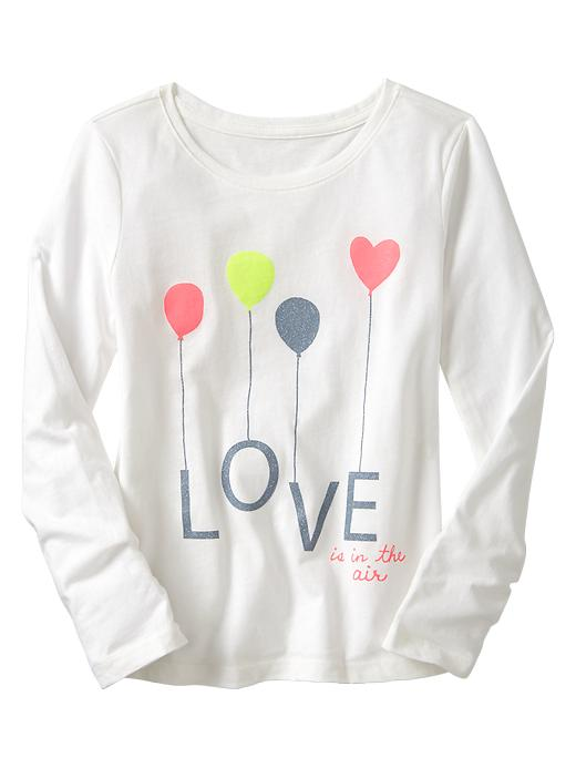 Gap Graphic Long Sleeve T - Off white - Gap Canada