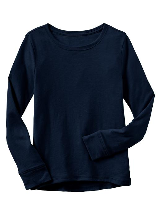 Gap Long Sleeve Hi Lo T - Elysian blue - Gap Canada