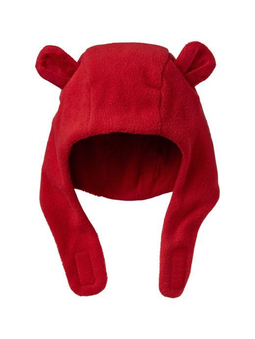 Gap Cozy Fleece Bear Hat - Red - Gap Canada