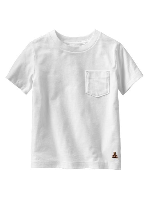 Gap Solid Pocket T - White