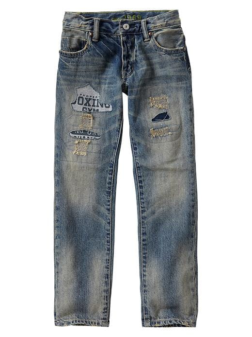 Gap 1969 Patchwork Straight Jeans - Denim - Gap Canada