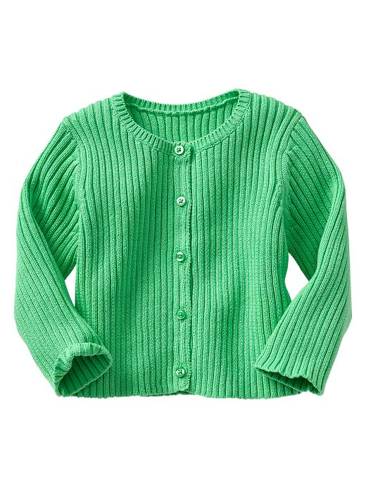 Gap Ribbed Cardigan - Parrotfish green - Gap Canada