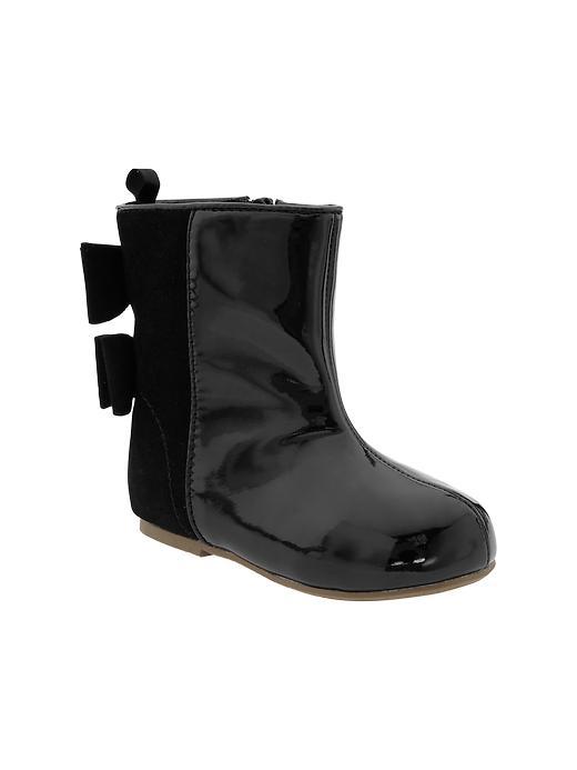 Gap Bow Back Boots - True black - Gap Canada
