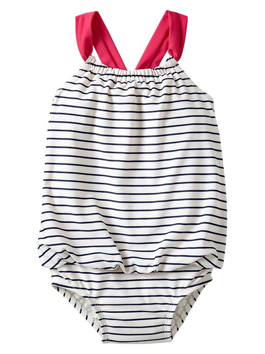 Gap Striped Bubble One Piece - Marine blue - Gap Canada