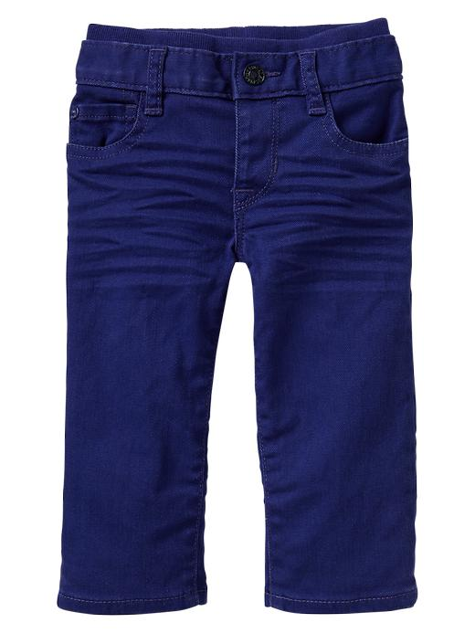 Gap Colored Knit Waist Straight Jeans - Spectrum blue - Gap Canada