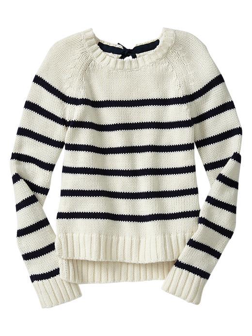 Gap Striped Bow Sweater - French vanilla - Gap Canada