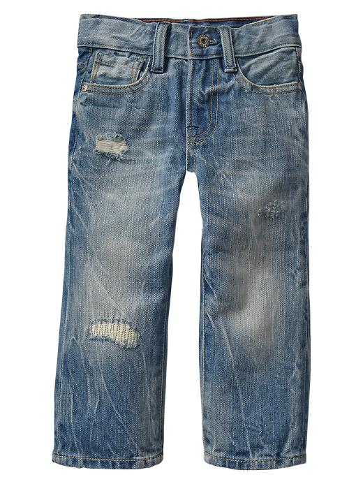 Gap Destroyed Original Fit Jeans - Light wash indigo - Gap Canada