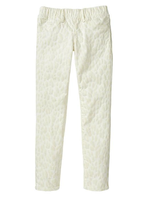 Gap 1969 Leopard Legging Jeans - Ivory frost - Gap Canada