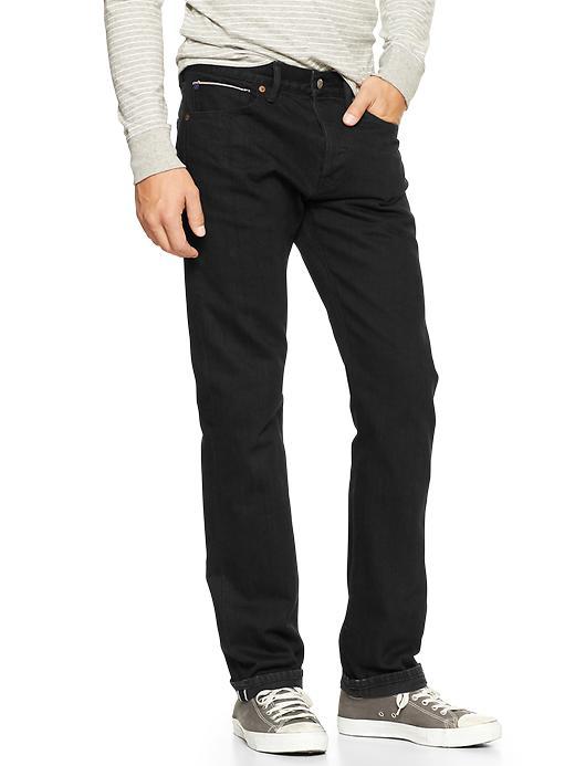 Gap 1969 Japanese Selvedge Slim Fit Jeans - Black - Gap Canada