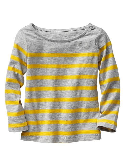 Gap Striped Boatneck T - Yellow stripe