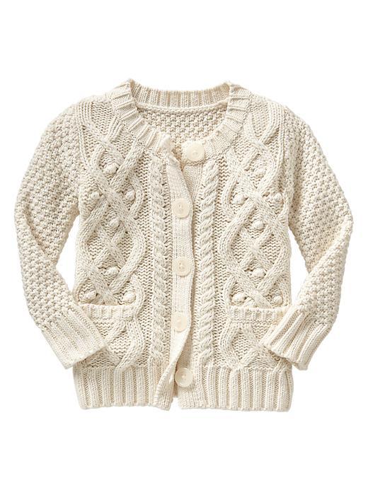 Gap Textural Cable Knit Cardigan - French vanilla - Gap Canada