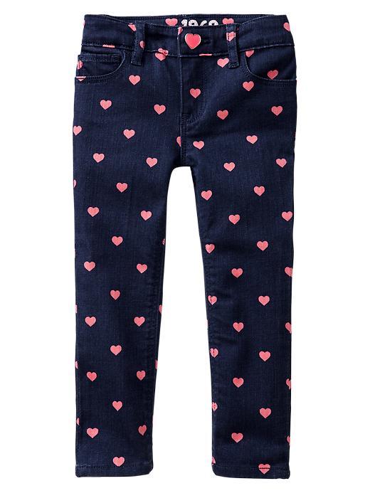 Gap 1969 Heart Skinny Jeans - Pink heart - Gap Canada