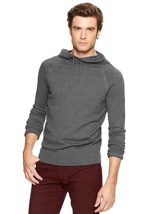 Gap Cotton Cashmere Hooded Sweater - Charcoal gray - Gap Canada