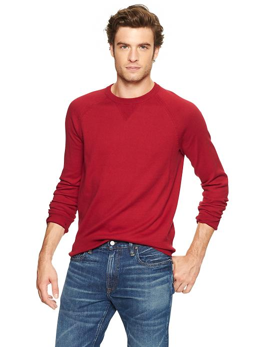 Gap Cotton Cashmere Sweater - Lasalle red - Gap Canada