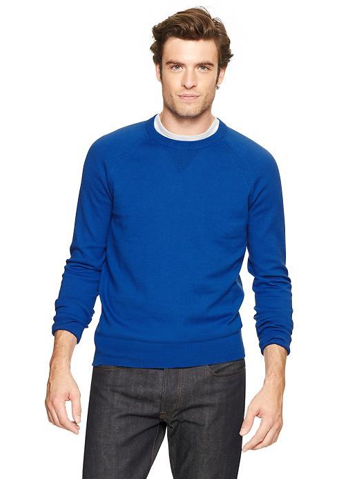 Gap Cotton Cashmere Sweater - Blue plate - Gap Canada