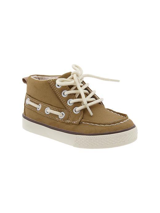 Gap Hi Top Deck Sneakers - Acorn - Gap Canada