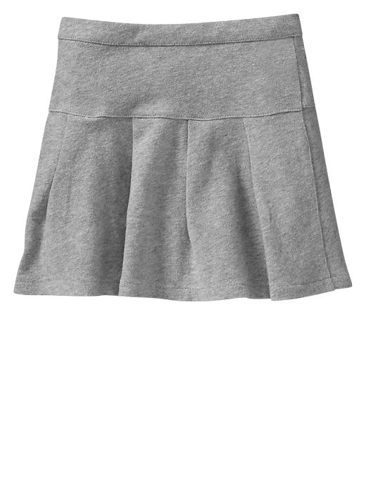 Gap Pleated Knit Skirt - B13 lt heather grey - Gap Canada
