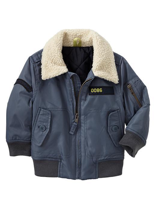 Gap Sherpa Collar Bomber Jacket - Scholastic grey