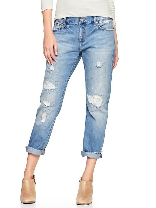 Gap 1969 Destructed Sexy Boyfriend Jeans - Daybreak wash - Gap Canada